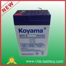 Batería del plomo AGM de 6V 4ah para la linterna, juguete