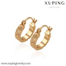29700 -Xuping Jóias Moda Banhado A Ouro Huggies Brinco