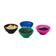 2015 nuevos productos tazón de fuente de silicona mini cuenco de cocina