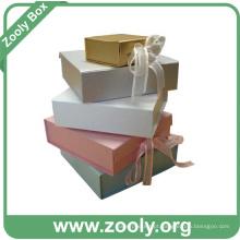 Papel decorativo impresso dobrável caixas de presente / Professional Foldable Box Fabricante