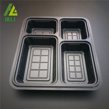 4 compartments disposable plastic lunch box