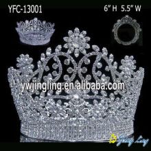 Diamante de 6 pulgadas Miss World Crown Flower