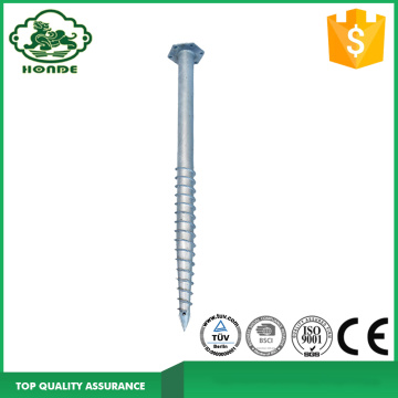 Solar Mounting Dengan Galvanized Ground Screws