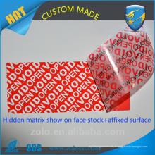 Vente chaude et garantie d'étiquette de haute qualité pour le commerce de gros