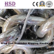 Cadena de pesca galvanizada, cadena de anclaje sin perno, cadena de elevación, cadena G70, DIN763, DIN766