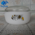 Opal Glass Pressing Casserole With Lid