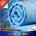 100% Polyester Pure Blue Electric Blanket for EU Market