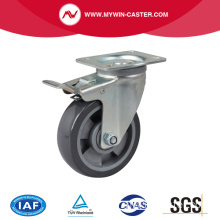 Medium 5 inch 200 kg Plate Brake PU Caster