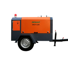 diesel portable screw 8 bar 370 cfm air compressor