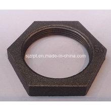 Conexões de tubulação de ferro maleável Black Locknut