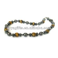 Magnetische Hämatit Tiger Perlen Halskette