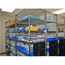 5 Tiers Adjustable Chrome Steel Hospital Storage Shelf