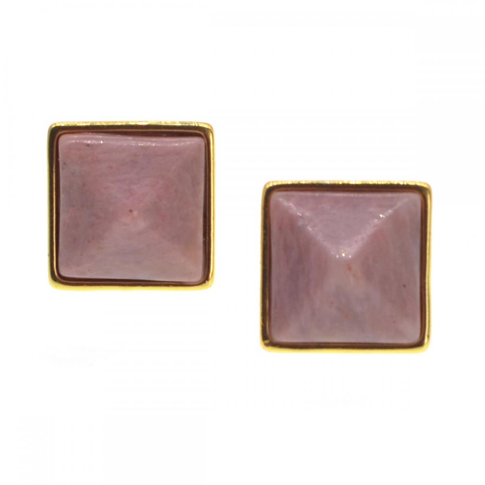 Rhodochrosite Wedding Stud Earrings