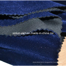 100%Polyester Velvet Fabric for Sofa/Upholstery