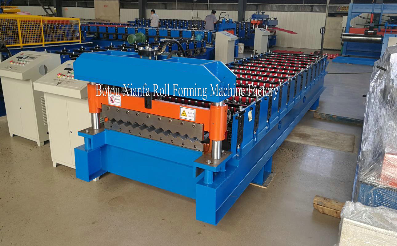 ce approved roof roll forming machine