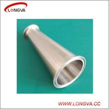 Réducteur concentrique à trois tubes en acier inoxydable sanitaire