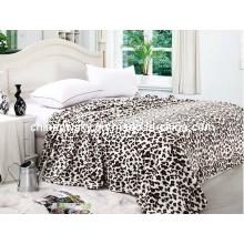 100% Polyester Leopard Printed Coral Fleece Blanket