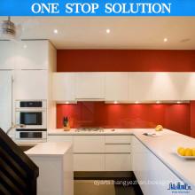 L Shape White Australia Fashion Kitchen Cabinetry