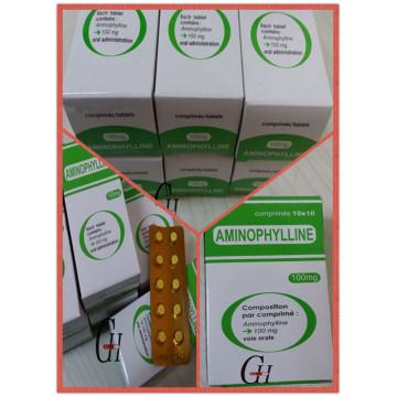 Comprimidos Antiasmáticos de Aminofilina