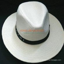 Chapeau de plomb Panama personnalisé avec ruban imprimé pour la publicité