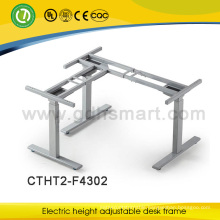 new design and most popular ellipse feet 3 legs electric height adjustable desk frame made in China