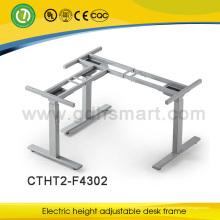 novo design e mais popular elipse pés 3 pernas altura elétrica mesa de secretária ajustável made in China