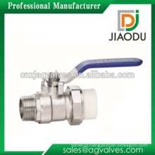 manufacturer hs code DN15 DN20 1/2'' 3/4'' Male and single union brass forged body china pp-r brass ppr insert ball valve