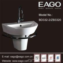 Lavabos semi-piédestal de salle de bains en céramique / bassin semi-piédestal (UPC + CUPC, SASO)