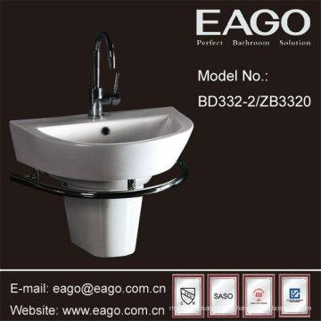 Lavabo semi-pedestal para baño de cerámica EAGO (UPC + CUPC, SASO)