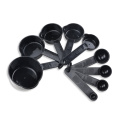 10PCS Black Plastic Measuring Spoon Cooking Scoop Set