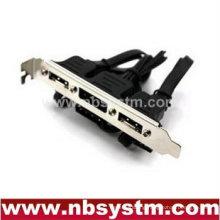 3 port eSATA bracket with IDE power, Esata bracket with power
