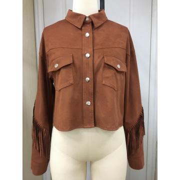 Women's Suede Tassel Fringe Jacket