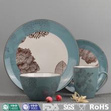 Vintage Artwork Design Color Juego de vajilla de cerámica esmaltada