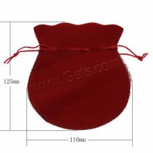 Schmucksache-Fabrik-Samt-Beutel Custome Wachs-Baumwollschnur-Schmucksache-Verpackung