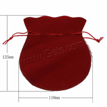 Jewelry Factory Velvet Pouches Custome Wax Cotton Cord Jewelry Packing