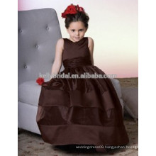 Beautiful and high quality organza flower dress or ball gown tulle flower girl dress or plus size flower girl dress