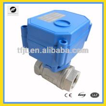 CWX15N DC3-6V que opera la válvula de bola motorizada con el flujo grande para el sistema de fuga de agua, sistema de agua del autocontrol
