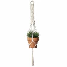 como fazer suportes de plantas pendurados em macramê
