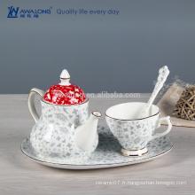 Ensemble de thé de style occidental de peinture ordinaire, ensemble de thé chinois avec plaque