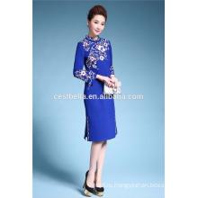 Спос!!! Китай Оптовая Лиюань Мода Стиль Элегантный Королевский Синий Платье Пальто
