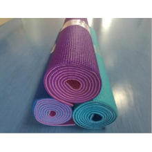 Tapis de yoga en PVC double couleur