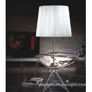 Carbon Steel Silk Shade Hotel Floor Lamps (253F silk shade)