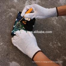 NMSAFETY 13G nylon-carbone doublure PU ESD antistatique gants de travail à la main