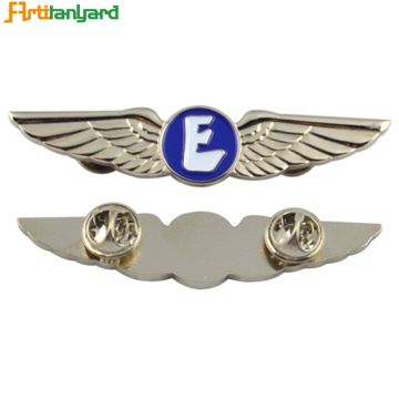 Custom Push Eagle Wing Lapel Enamel Pins