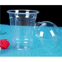 Tasses froides froides jetables d'animal familier en plastique