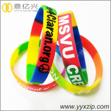 Custom silicone segment colorful cheap wristbands