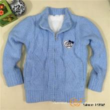 Двойной слой причудливой пряжи Вставьте вышитый пальто для детей