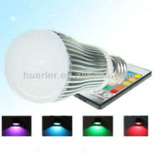 Manufacturer offer with CE RoHS E27 100-240v 5W remote control rgb light bulb