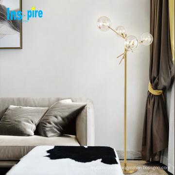 Gold color nordic floor lamp metal glass standing lamp led floor lamp lighting