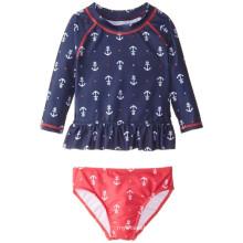 Anchor Printed Rashguard Swim Set für kleine Mädchen
